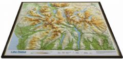 Lake District Raised Relief Map Framed